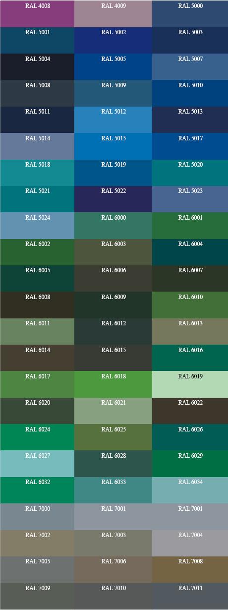 vzorník RAL2