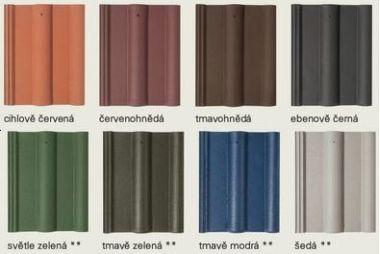 Barva na betonové tašky
