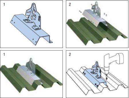 Montáž trapézového plechu