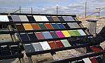 Barevné provedení ocelového opláštění budovy GreenCoat, zdroj: SSAB