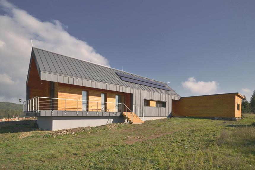 Pasivní moderní dům - pohled z dálky