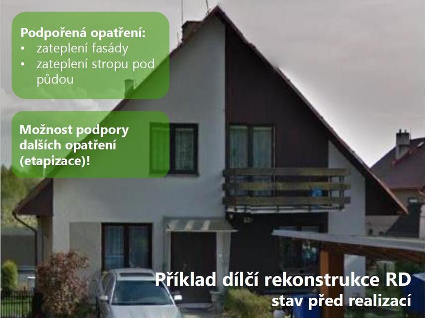 Příklad dílčí rekonstrukce RD před realizací