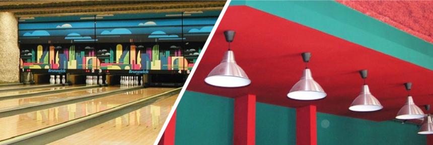 Nástřik foukané izolace pro snížení hladiny hluku použitý v bowlingové hale