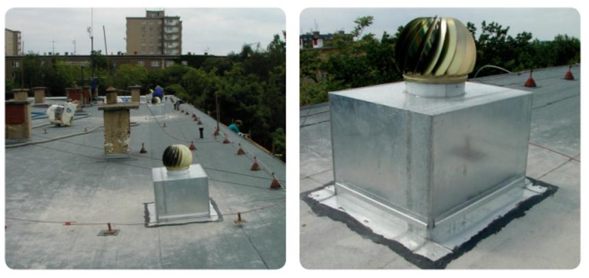 Nástavbou s aktivní ventilační hlavicí