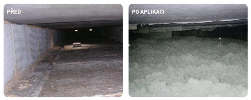 Před a po aplikaci izolace Climatizer Plus