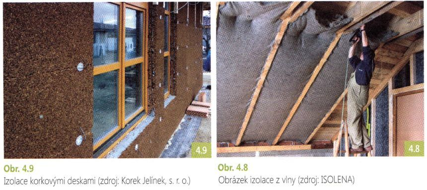 Izolace korkovými deskami a izolace z vlny