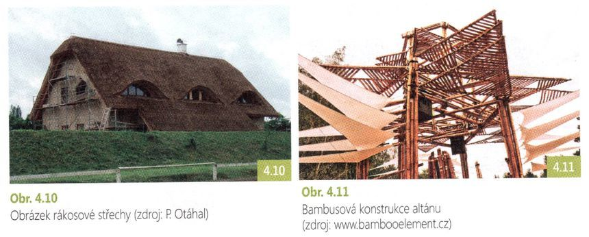 Rákosová střecha a bambusová konstrukce altánu