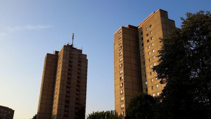 Pohled na panelové domy