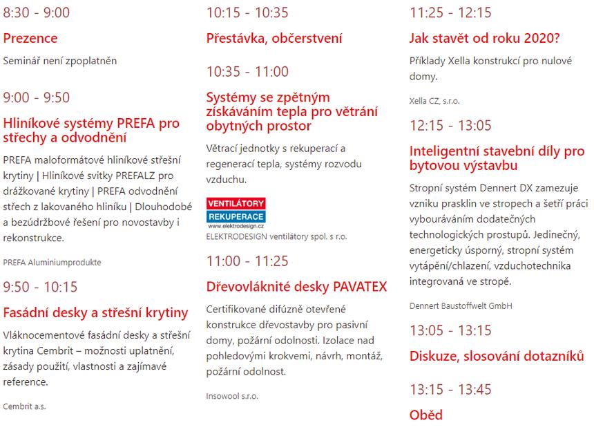 program semináře AZpromo