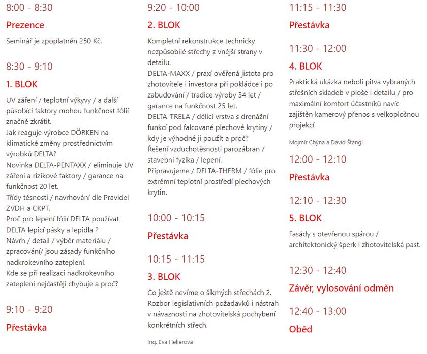 Program Delta fórum 2020: odborná konference