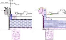 Různé způsoby řešení zateplení střešního okna bez izolačního rámu, zdroj: PUREN