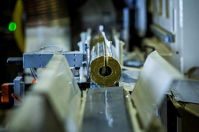 Rockwool - Výrobní linka potrubních izolačních pouzder - finální produkt