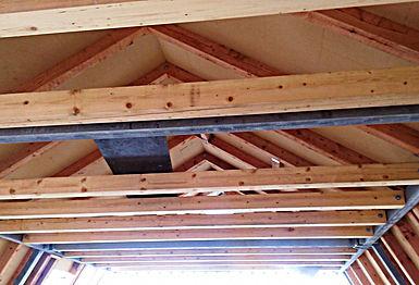 Hřebenová část střechy