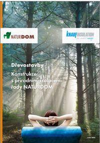 Knauf, Dřevostavby, zateplení přírodními materiály, brožura