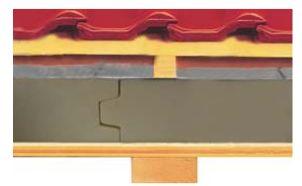 Puren, zateplení nad krokvemi, šikmá střecha, izolace minerální