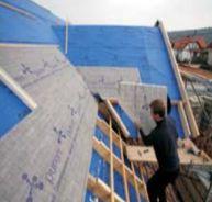 Puren, zateplení nad krokvemi, šikmá střecha