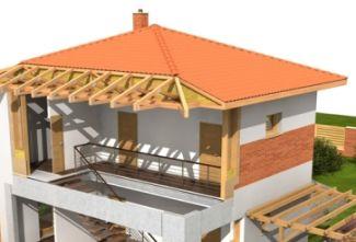 Šikmá střecha u nízkoenergetických a pasivních domů, ilustrační foto