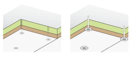 Heraklith, dodatečná izolace stropu, přímé upevnění na strop ve dvou vrstvách