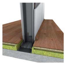 Knauf Insulation, vnitřní stěny, detail napojení na konstrukci podlahy