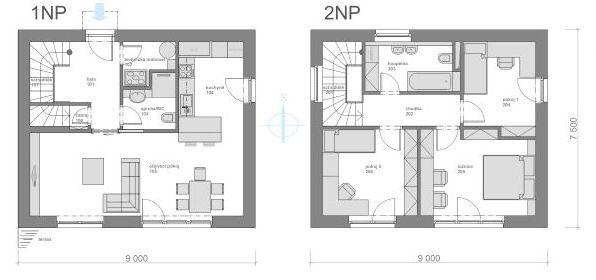 Příklad dispozice pasivního domu