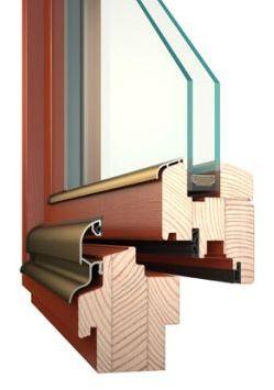 Dřevěné okno Vekra