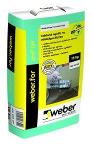 Lehčené lepidlo weber profi LW, zdroj Weber - zateplovací systémy