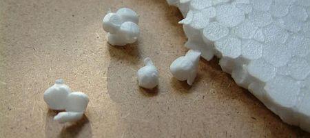 Detail pěnového polystyrenu EPS