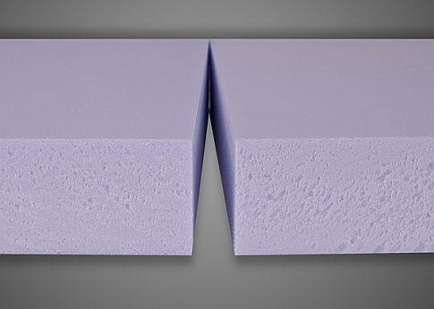 Detail extrudovaného polystyrenu XPS
