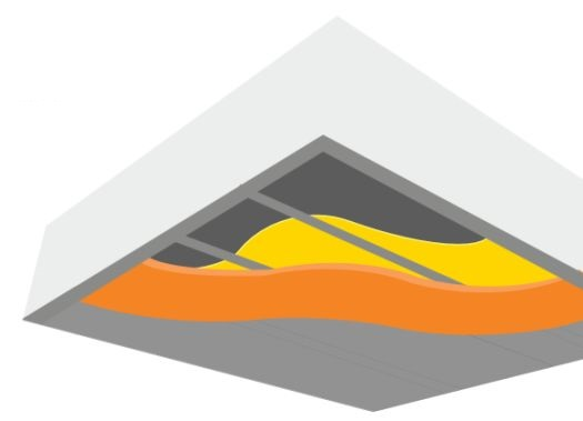 Masivní strop 180 mm s 20 mm minerální izolace, fotozdroj Ciur a.s.