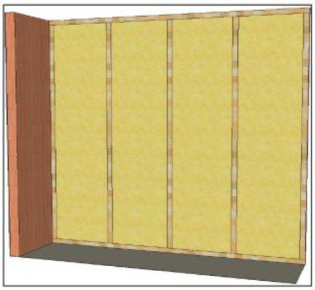 Prostor mezi profily vyplněný izolačním materiálem, fotozdroj Ciur a.s.