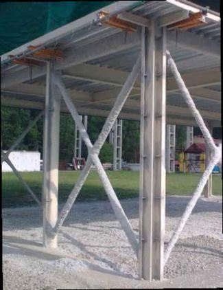 Stavební konstrukce po požárně ochranném nástřiku, fotozdroj Ciur a.s.