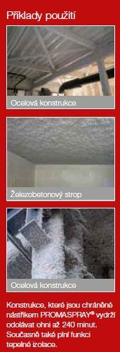 Příklady použití protipožárního nástřiku, fotozdroj Ciur a.s.