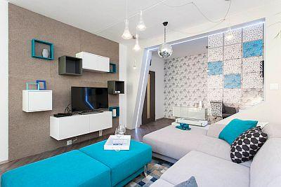 Interiér bytu z pořadu TV Prima - Jak se staví sen, zdroj: KNAUF