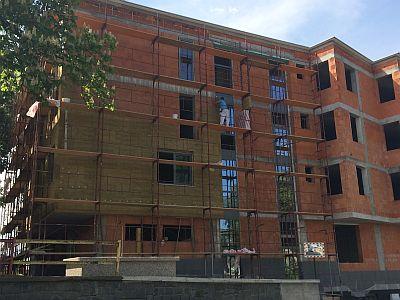 Zateplování fasády cihlového domu, zdroj: ROCKWOOL