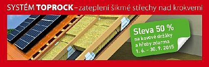 Systém Toprock  - akce 50% sleva na kovové držáky a hřeby zdarma, zdroj: Rockwool