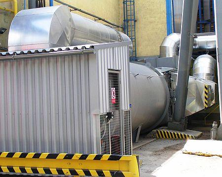 Spalovací komora zabezpečuje pokles emisí plynných složek spalin, zdroj: Rockwool