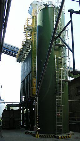 Zásobník zařízení na snížení emisí oxidů síry, zdroj: Rockwool