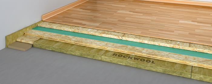 Vrstvy podlahy rockwool