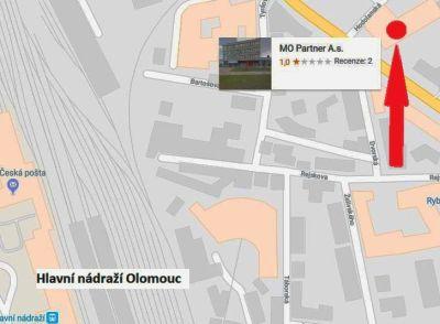 mapa Saja centra Olomouc