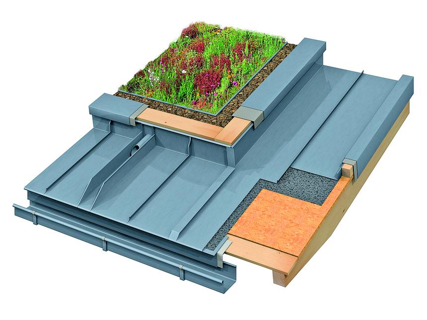 Zelené střechy Rheinzink