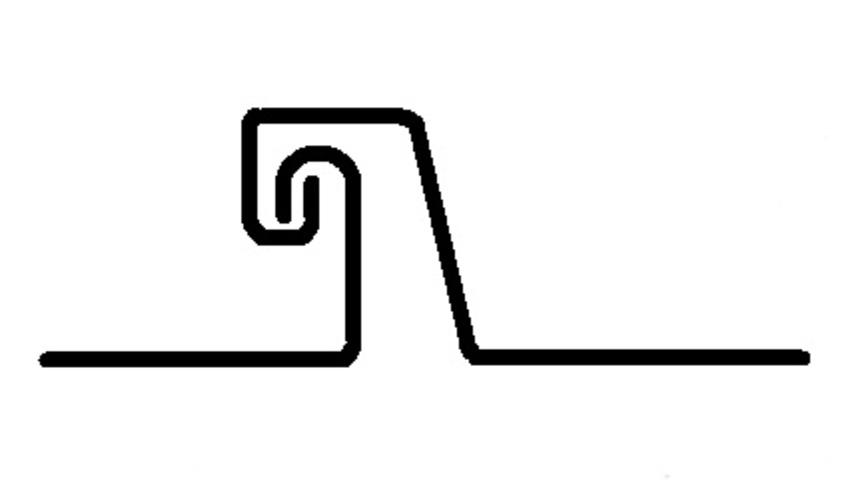 Dvojitá stojatá drážka - příklad