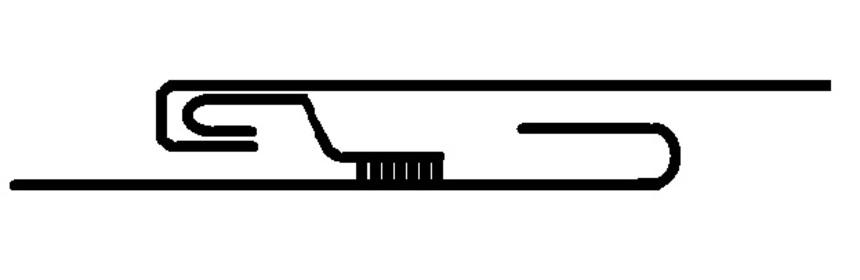 Jednoduchá ležatá drážka s přídavnou lištou - příklad