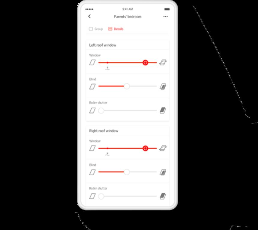 Velux chytrá aplikace