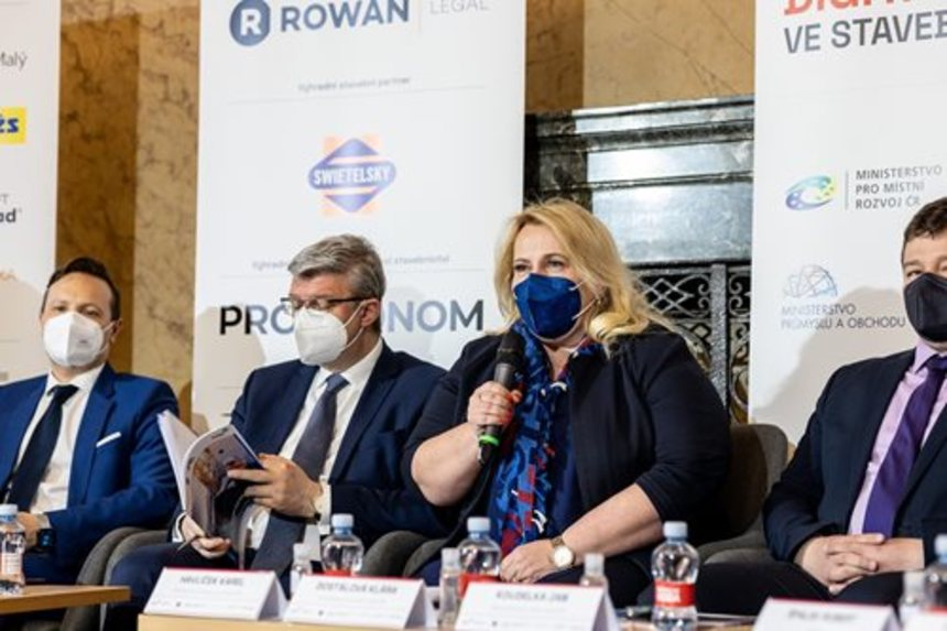 Ministryně Dostálová promlouvá k digitalizaci stavebnictví