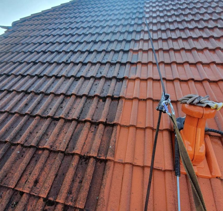 Detail lakování střešní krytiny
