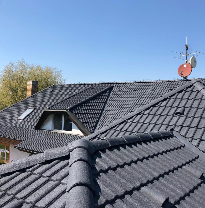 Po renovaci složitější střechy