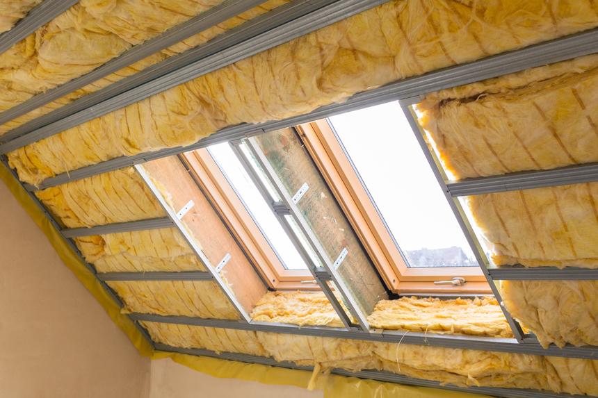 Minerální izolace v podkroví střechy
