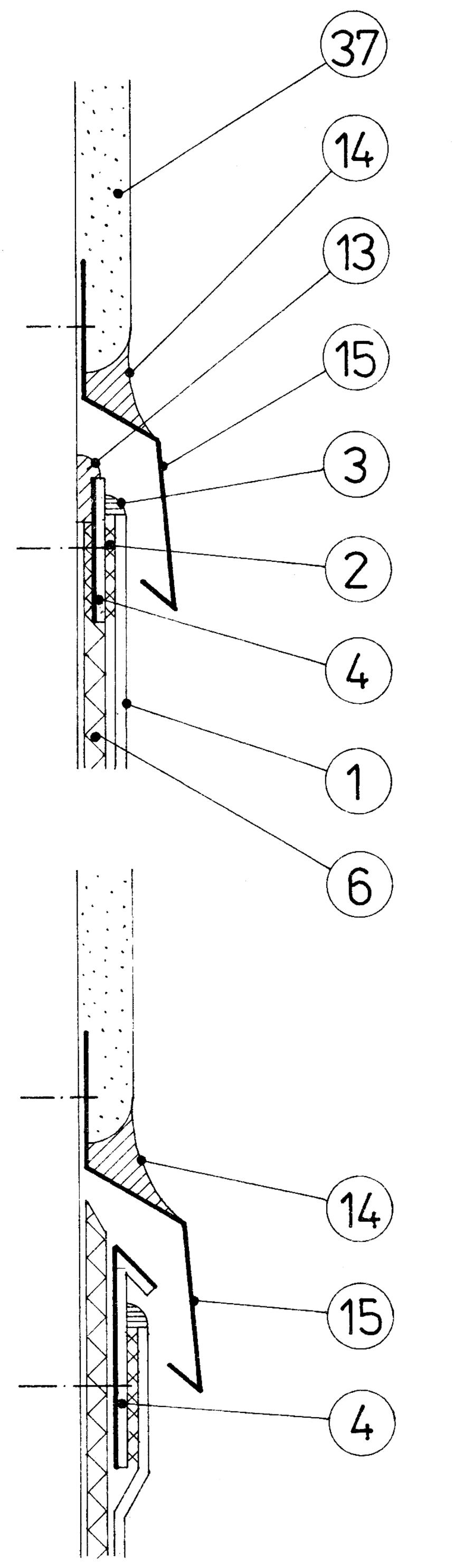 Ukončení na vertikální konstrukci