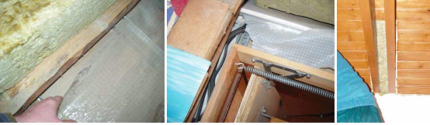 Nenapojená parozábrana na stavební konstrukce - další fotky