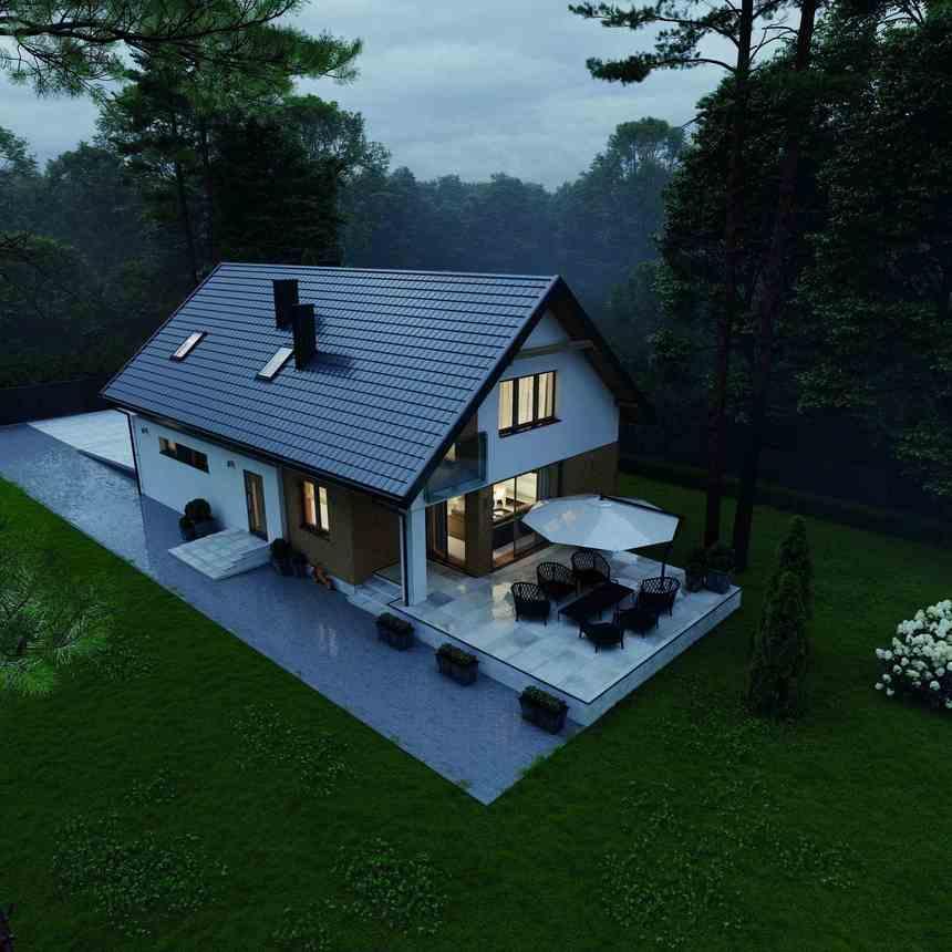 Moderní dům s krytinou Ruukki Frigge